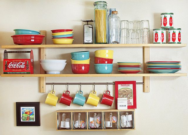Fiestaware colors: turquoise, sunflower,scarlet