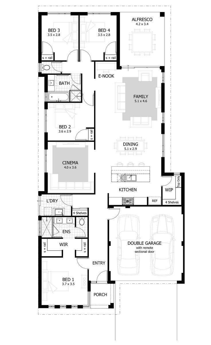 Modern Family House Floor Plan Elegant Image Of Modern