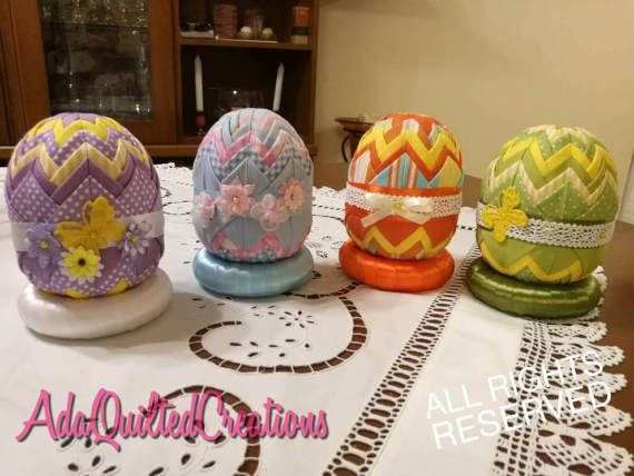 Check out this item in my Etsy shop https://www.etsy.com/listing/504363454/easter-decorative-eggs-folded-fabric