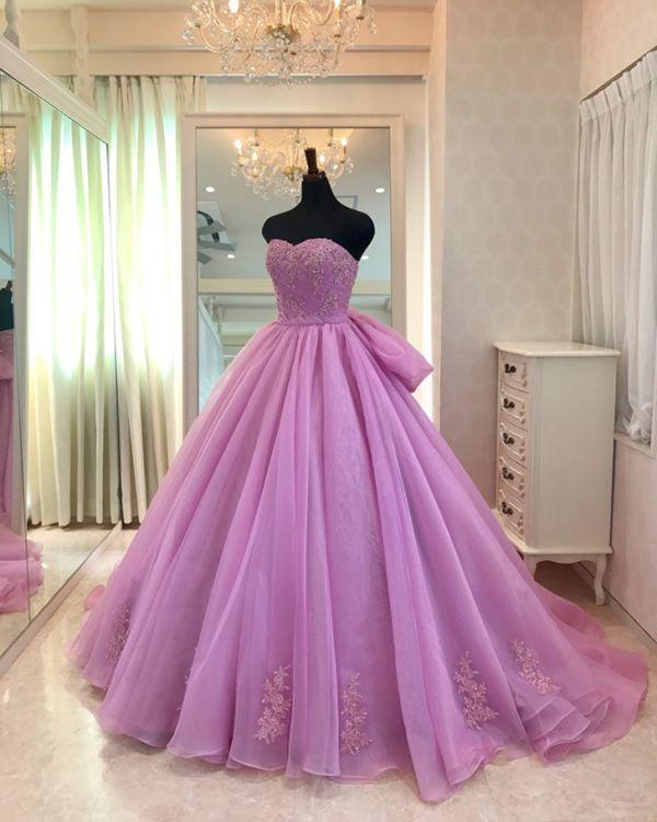 da76b4de6a2 Light Purple Quinceanera Dresses Sweetheart Appliques Organza Ball Gowns  Sweet 16 Dresses  quince  sweet15  quinceaneradresses  ballgowns