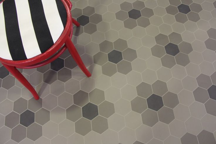 Waxman Ceramics' Unglazed Hexagon - just one of the many possibilities achievable with the wide range of colours available. www.waxmanceramics.co.uk