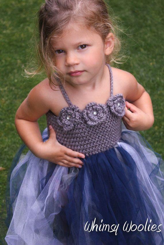Crochet Pattern: 'Robin Dress', Crochet Flower Girl, Princess Tutu, 18-36mo