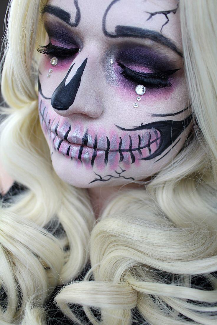 Pink Skull - Halloween und Karneval Inspiration für alle die Lust auf ein Skelett Make Up haben aber es gerne etwas schlichter wollen