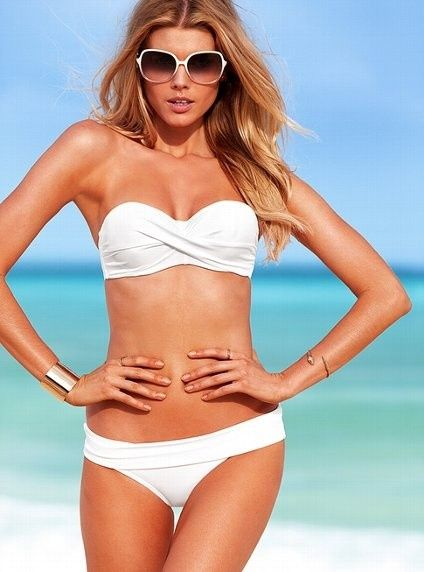 OMFG I cant believe this really is working! I just got the summer body I dreamed of. Thanks to http://dbzkvluont.tumblr.com it's the coolest thing I have got all season!!!: White Bikinis, Fashion, Inspiration, Summer Looks, Style, Beautiful, Bandeau Tops, Victoria Secret, Pinterest Friends