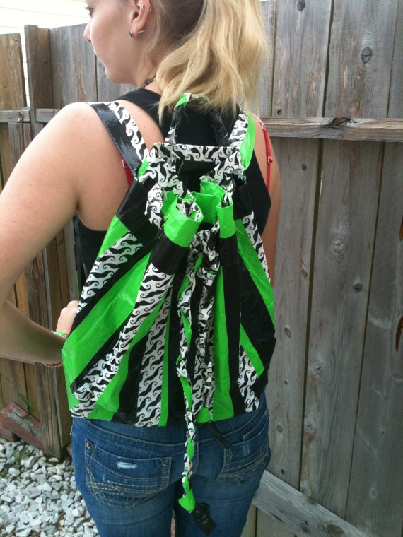 Duct Tape Backpack by StickyDuckCraftingCo on Etsy, $20.00
