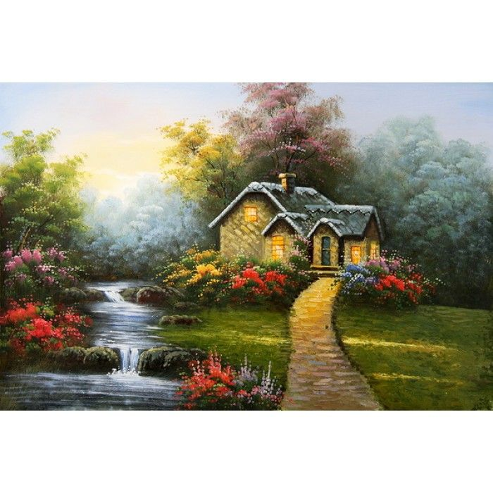 On sale yellowstone house house and garden for Cheap canvas paintings for sale