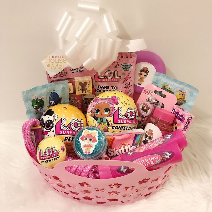28 best easter gifts for children images on pinterest pre filled doll custom easter basket lolsurprise easter easterbaskets girl negle Image collections