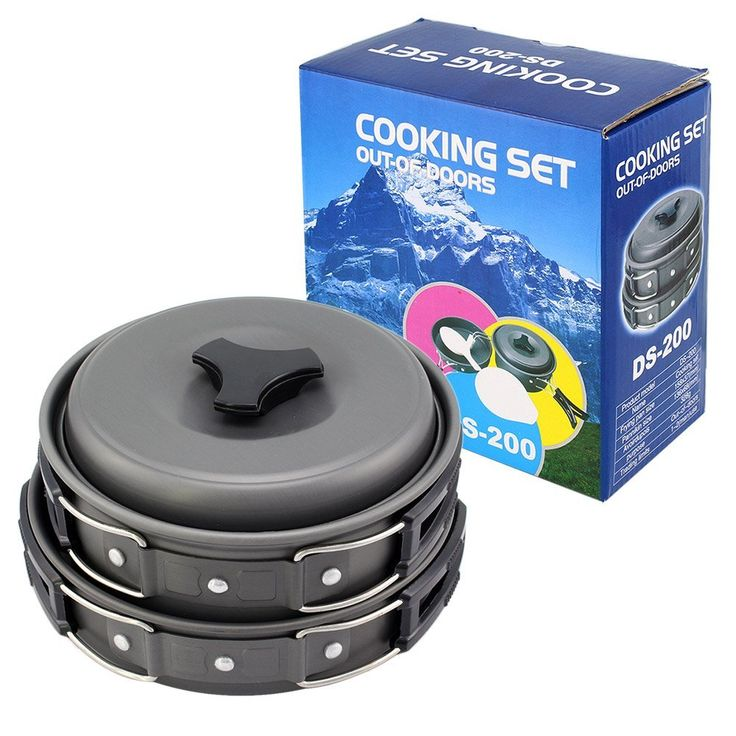 Topix 8pcs Lightweight Foldable Outdoor Camping Hiking Cookware Backpacking Cooking Picnic Bowl Pot Pan Set with Mesh Bag * This is an Amazon Affiliate link. Check out this great product.