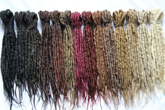 Synthetics Dreads Double Ended Natural looking - NATURAL COLOR- 15-17 inches lenght - Medium thickness
