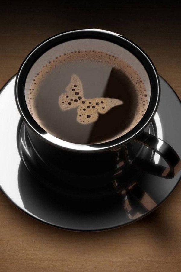 Butterfly - 30 Incredible Pieces of Coffee Latte art  <3 <3