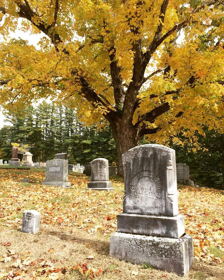 graveyard in the fall goffstown new hampshire - Halloween New Hampshire