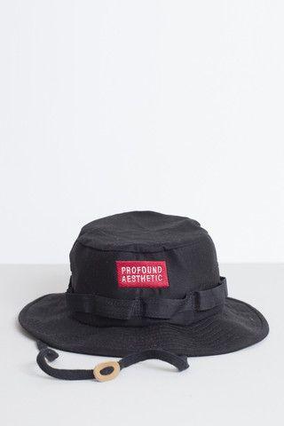 Profound Aesthetic Safari Hat: Black http://profoundco.com ...