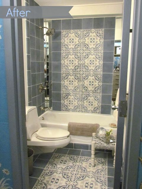 Design: Mehditash Design The Before & After series continues, on my The Ronald McDonald House of Long Island #ProjectDesign2013 w/ Kravet remodel into the bathroom. Thanks greatly to Filmore Clark and Brizo Faucet for making it possible!  http://dec-a-porter.blogspot.com/2013/10/before-after-remodeling-bathroom-at.html