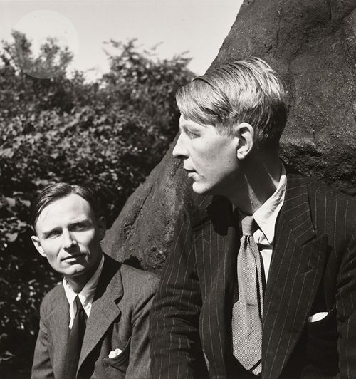 Christopher Isherwood and W.H. Auden, Central Park, 1938.
