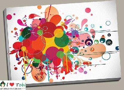 Tablou abstract bubbles - cod C75