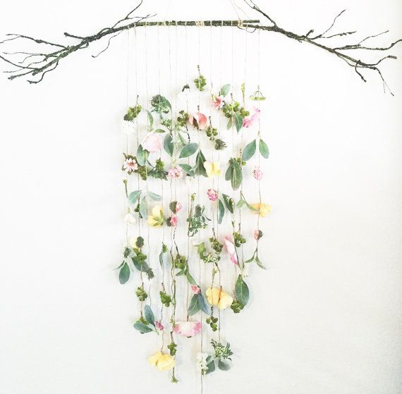 Floral Wall Hanging Decor - could be a cool piece to have outside or featured on a wall
