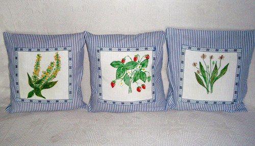 Babiččina zahrádka - povlaky na polštářky http://www.fler.cz/arna