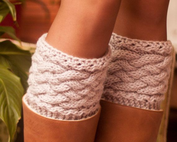 Cuff boots. Warm feet. Loading. Winter. Autumn. by LoveKnittings