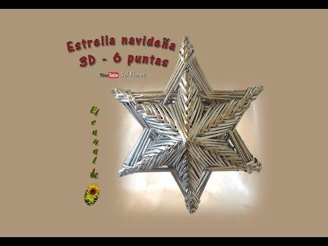 csillag Estrella 3D de seis puntas con papel periódico - 3D Star six-pointed with newspaper - YouTube