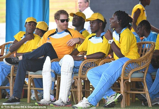 Prince Harry takes part in a cricket match in St Lucia | Daily Mail Online