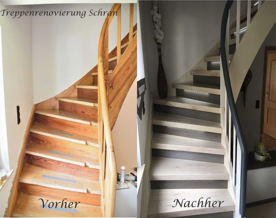 Treppengalerie Treppenrenovierung Schran, Vor   Und   Nach Der Renovierung  Alter Treppen,
