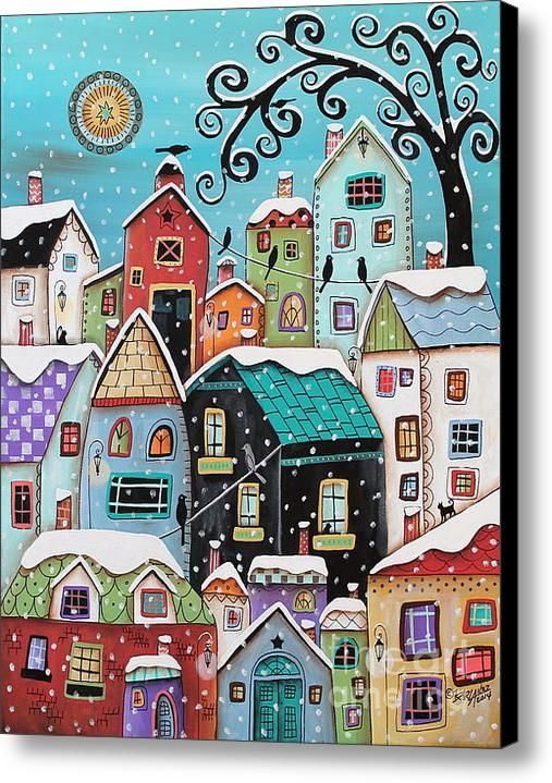 Winter City Canvas Print / Canvas Art By Karla Gerard