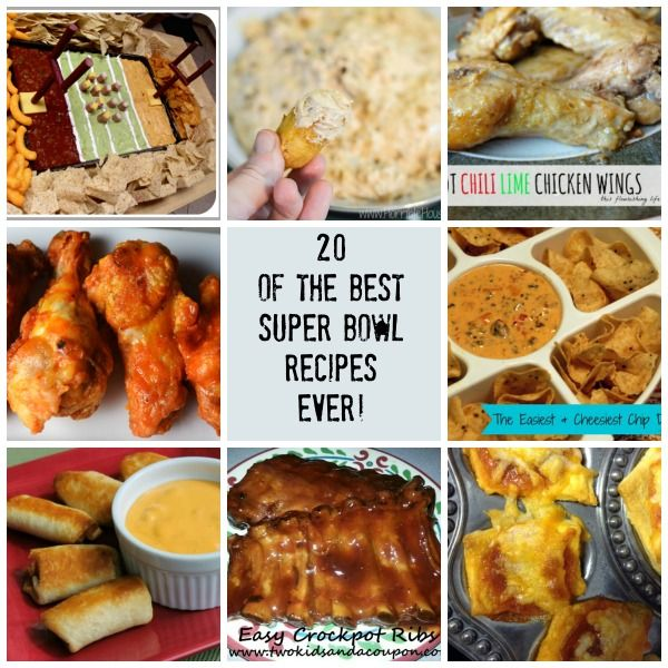 20 of the best Super Bowl Recipes Ever!