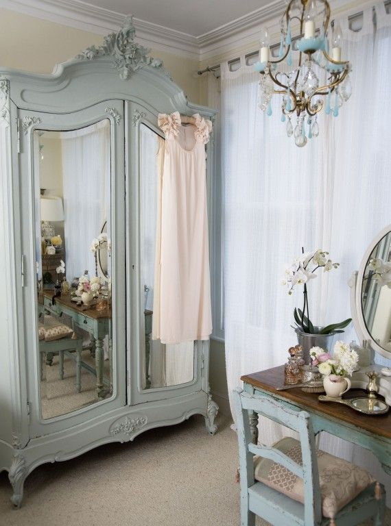 I would kill for that wardrobe! - *A. - Woman And Home - Painted Armoire + Dresser