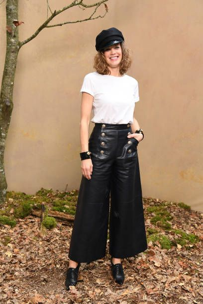 Marie Baumer attends the Chanel show as part of the Paris Fashion Week Womenswear Fall/Winter 2018/2019 at Le Grand Palais on March 6 2018 in Paris...