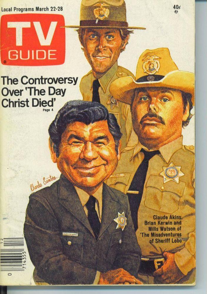 TV GUIDE 3-22-1980 CLAUDE AKINS~OSSIE DAVIS~BIG BIRD~MILLS WATSON~CHICAGO EDITIO