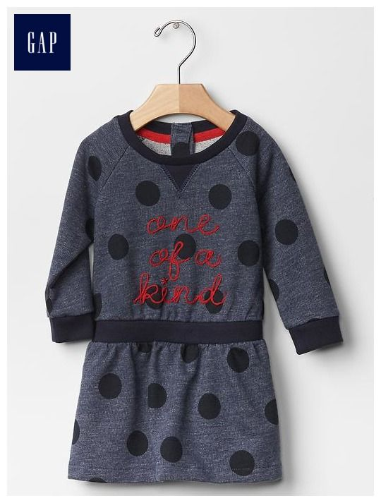 GapKids x ED statement sweatshirt dress - Make a (style) statement with out limited time GapKids x ED collection, a collaboration with Ellen DeGeneres new lifestyle brand created to help empower girls everywhere.
