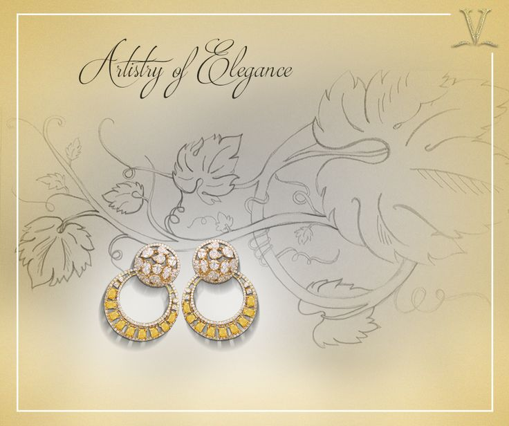 Tailored with exact precision, the delicate citrine earrings crafted singularly for you. #ArtistryOfElegance