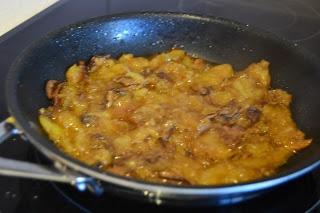 Tortilla de otoño con patatas y boletus