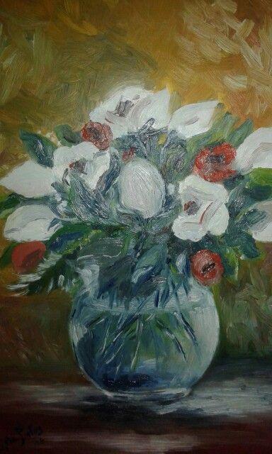 Anemoni..olio su tela art. (Pintus Angela)