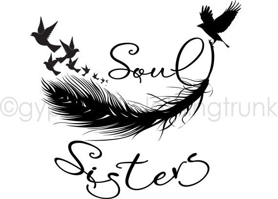 Soul Sister Car Decal  Sister Window Decal  by GypsyJunkClothing