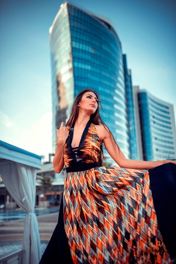 Silk 'Azar' Halter Maxi Dress www.sorayyadesign.com