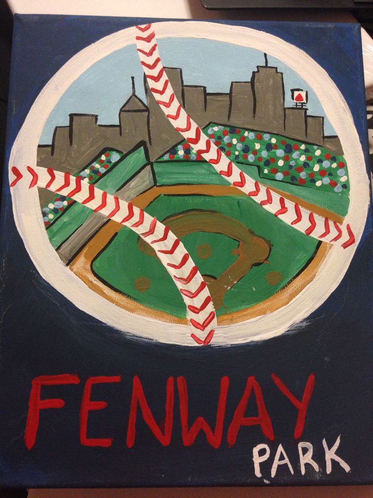 Boston Red Sox Canvas painting, Fenway park | Craft Ideas ...