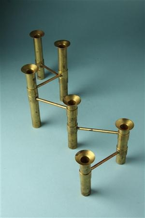 Tapio Wirkkala; Brass Candle Holder, c1960.
