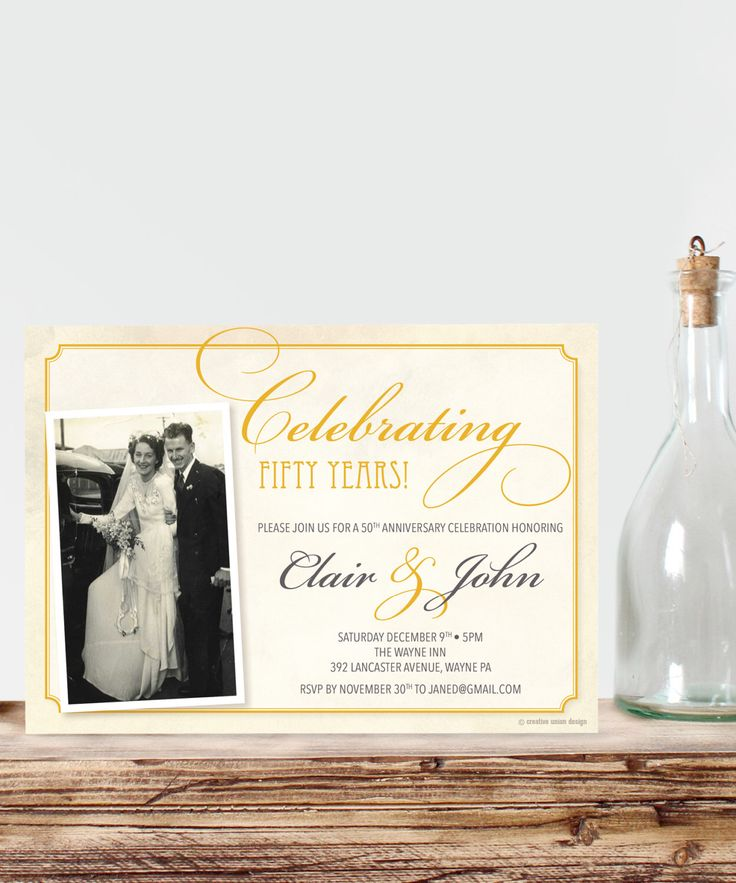 25 Best Ideas About 50th Anniversary Invitations On Pinterest