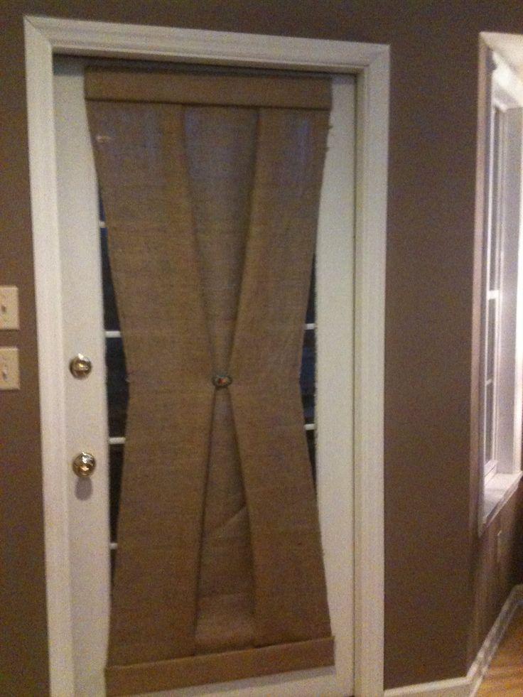 Window Treatment I Designed Created Today For Under $20.00 per Door!