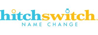 HitchSwitch... Fast way to change name after marriage. Partners with The Knot.