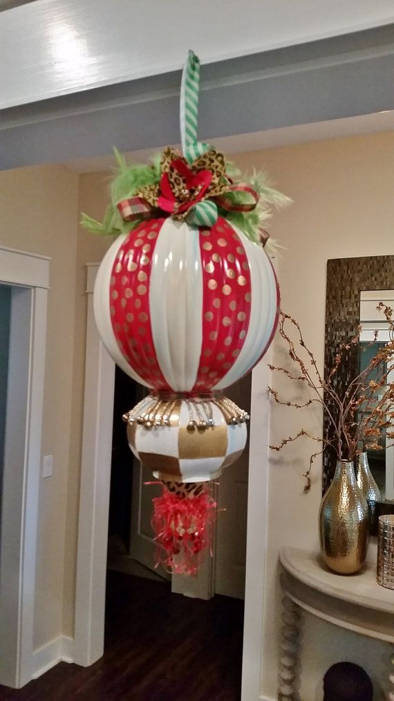 Christmas Kissing Ball Decor Ornament Giant by LucyDesignsonline