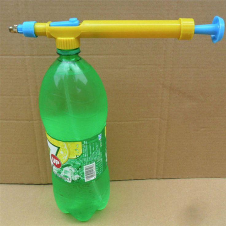 Mini Pulvérisateur Jus Bouteilles Interface En Plastique Chariot Pistolet Tête de Pulvérisation D'eau Pression Jardin Sopplies
