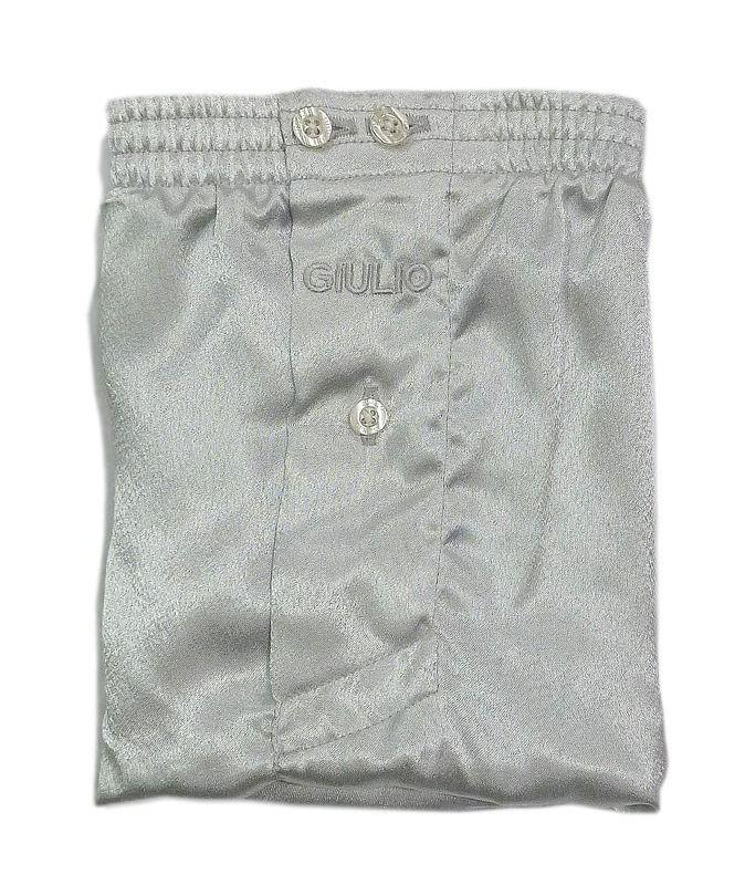 Bóxer de FANTASÍA Giulio de RASO en tono plata brillante.  Tejido vaporoso y muy suave. OFERTA 11,50€. Varelaintimo.com ropa interior hombre. Envío 24/48 h. http://www.varelaintimo.com/marca/10/giulio #menswear #mensunderwear