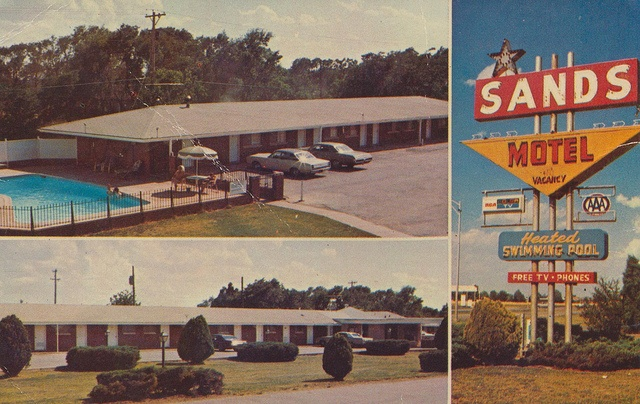 Sands Motel - Wichita, Kansas.  This is where we stayed in 1969 when we came to Wichita to look for houses when we were moving there.  Still active hotel and always holds memories when I see it.