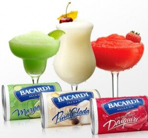 Margaritaville machine recipe: strawberry daiquiri: 1 can frozen mix, half the can with Bacardi 151 blend.