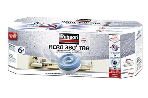 Rubson – 1619506 – Aero 360° – Recharge pour Absorbeur d'Humidité – 6 recharges