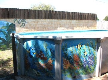 25 best images about cool painted pools on pinterest for Swimming pool design jobs