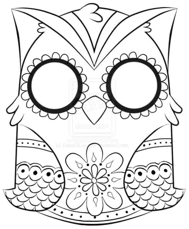 113 best Sugar Skulls Coloring Pages images on Pinterest
