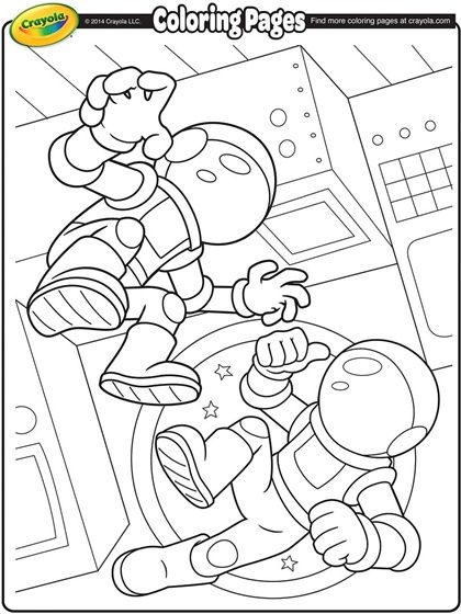 Space Astronauts Coloring Page!